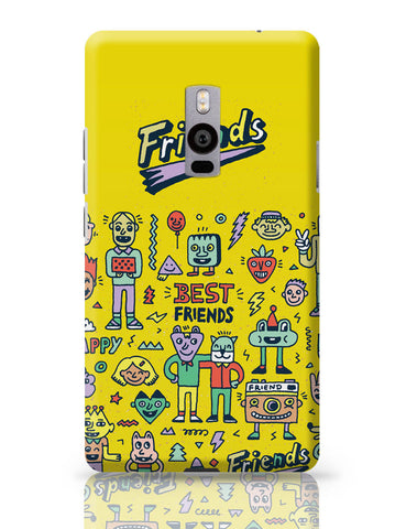 OnePlus Two Covers | Friends Doodle Illustration OnePlus Two Cover Online India