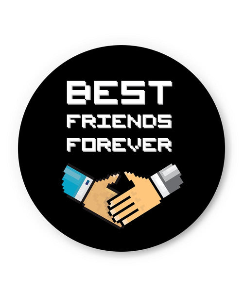 PosterGuy | Best Friends Forever Pixel Art Fridge Magnet Online India by Mayank Dhawan