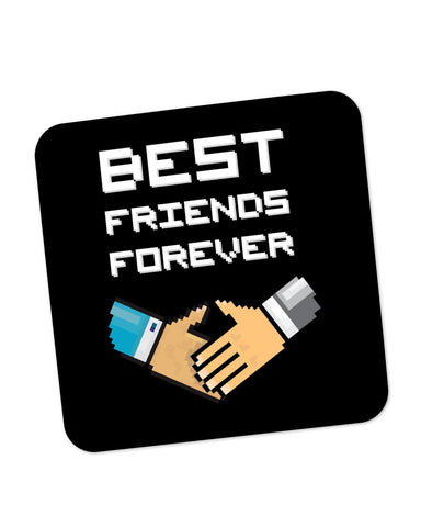 Buy Coasters Online | Best Friends Forever Pixel Art Coaster Online India | PosterGuy.in