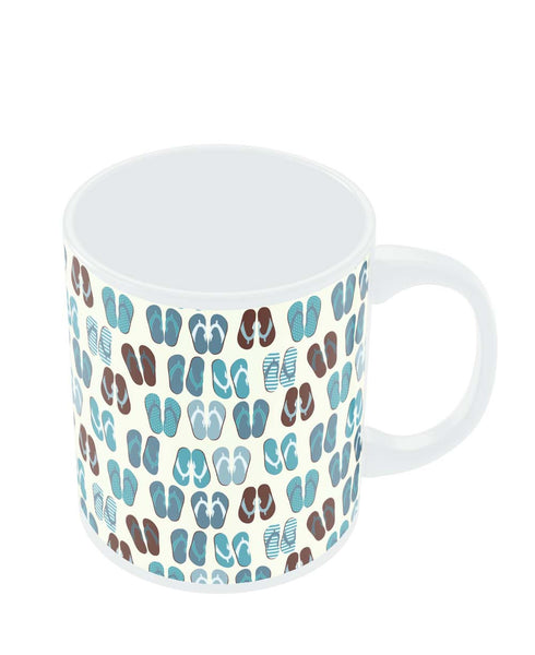 Coffee Mugs Online | Beach Slippers Pattern Mug Online India