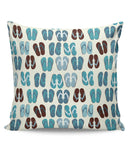 PosterGuy | Beach Slippers Pattern Cushion Cover Online India