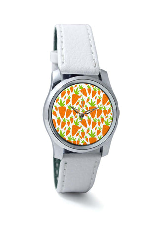 Women Wrist Watches India | Carrots Pattern Wrist Watch Online India