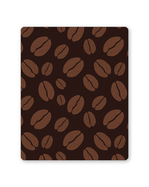 Buy Mousepads Online India | Coffee Beans Pattern Mouse Pad Online India