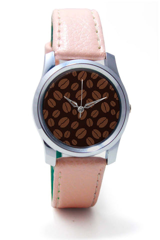 Women Wrist Watches India | Coffee Beans Pattern Wrist Watch Online India
