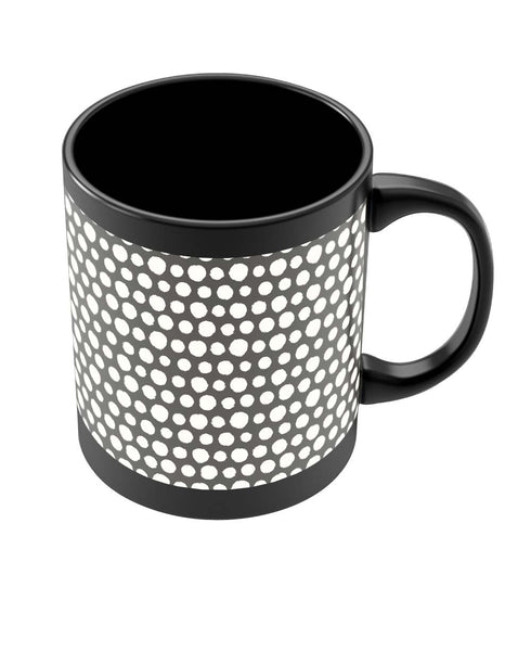 Coffee Mugs Online | Doodle Polka Black Coffee Mug Online India