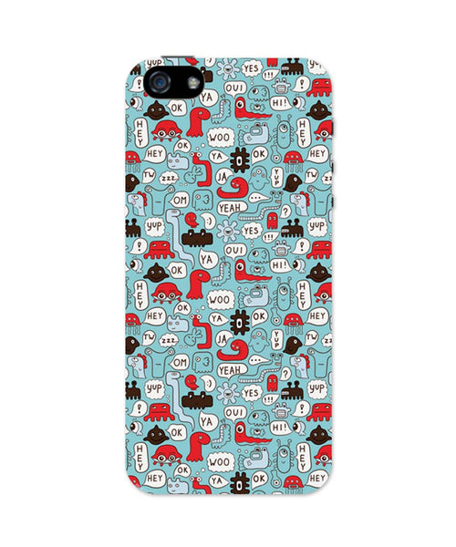 iPhone 5 / 5S Cases & Covers | Lingo Pattern iPhone 5 / 5S Case Online India