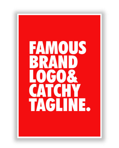 Buy Quirky Posters Online | Famous Brand Logo Red Poster | PosterGuy.in