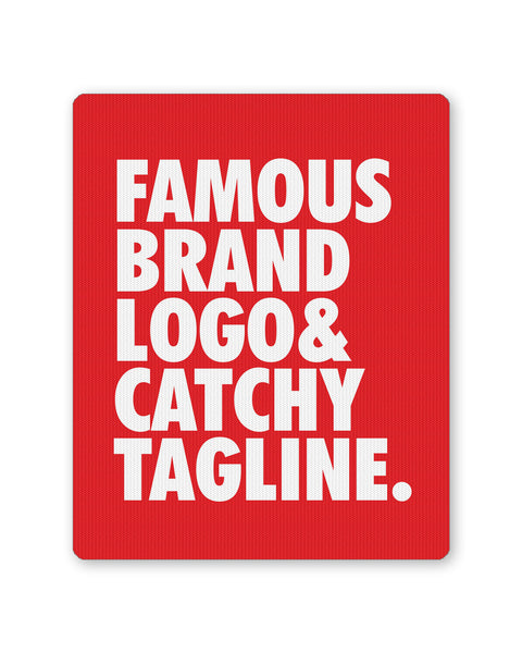 Mouse Pads | Famous Brand Logo Red Mouse Pad Online India | PosterGuy.in