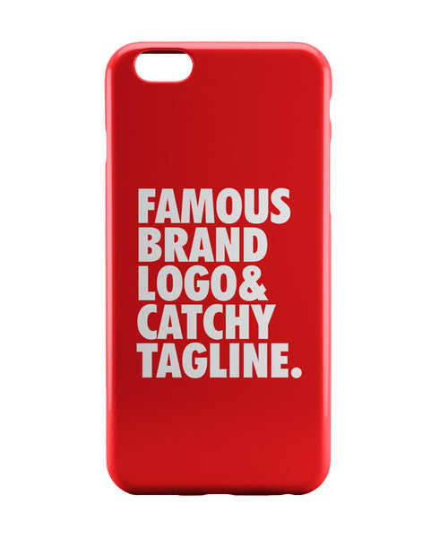 iPhone 6 Case & iPhone 6S Case | Famous Brand Logo Red iPhone 6 | iPhone 6S Case Online India | PosterGuy