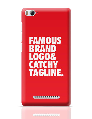 Xiaomi Mi 4i Covers | Famous Brand Logo Red Xiaomi Mi 4i Cover Online India