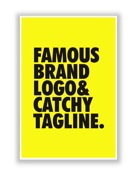 Buy Quirky Posters Online | Famous Brand Logo Yellow Poster | PosterGuy.in
