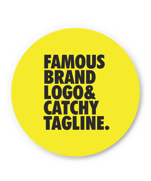 Famous Brand Logo Yellow Fridge Magnet Online India