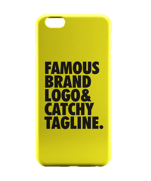 iPhone 6 Case & iPhone 6S Case | Famous Brand Logo Yellow iPhone 6 | iPhone 6S Case Online India | PosterGuy