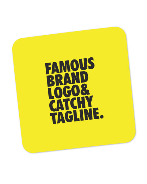 Famous Brand Logo Yellow Coaster Online India