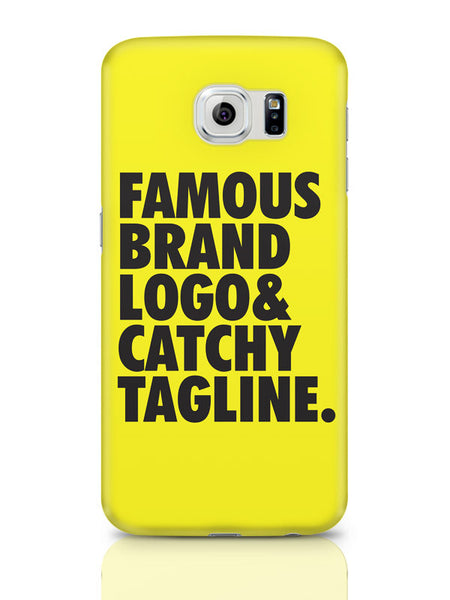 Samsung Galaxy S6 Covers & Cases | Famous Brand Logo Yellow Samsung Galaxy S6 Covers & Cases Online India
