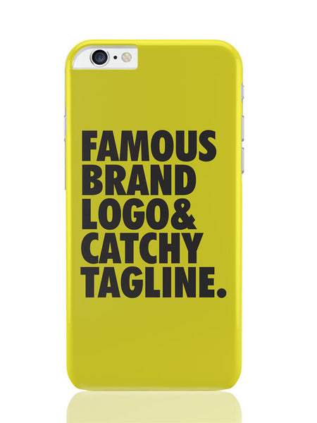 iPhone 6 Plus / 6S Plus Covers & Cases | Famous Brand Logo Yellow iPhone 6 Plus / 6S Plus Covers and Cases Online India