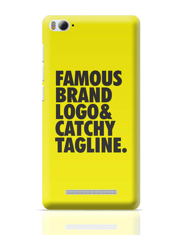 Xiaomi Mi 4i Covers | Famous Brand Logo Yellow Xiaomi Mi 4i Cover Online India