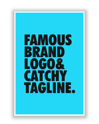 Buy Quirky Posters Online | Famous Brand Logo Blue Poster | PosterGuy.in