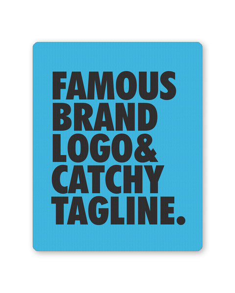 Mouse Pads | Famous Brand Logo Blue Mouse Pad Online India | PosterGuy.in