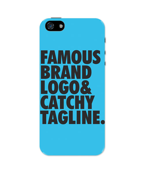 Famous Brand Logo Blue iPhone 5 / 5S Case