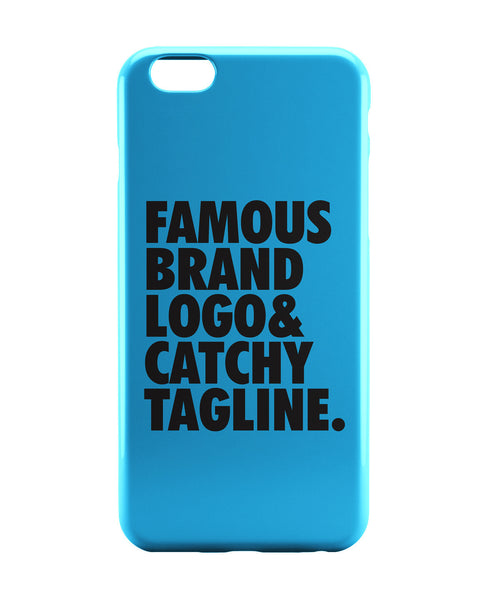 iPhone 6 Case & iPhone 6S Case | Famous Brand Logo Blue iPhone 6 | iPhone 6S Case Online India | PosterGuy