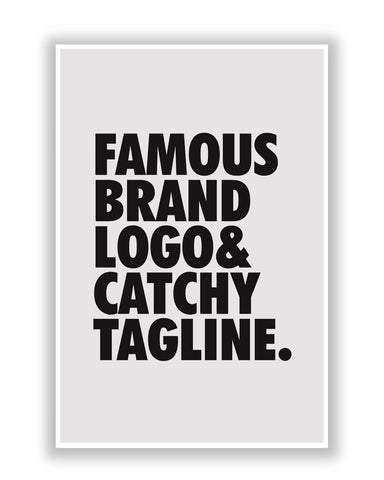 Buy Quirky Posters Online | Famous Brand Logo Grey Poster | PosterGuy.in