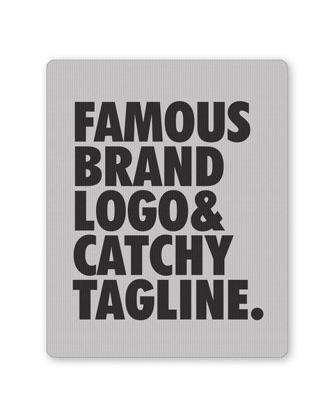 Mouse Pads | Famous Brand Logo Grey Mouse Pad Online India | PosterGuy.in