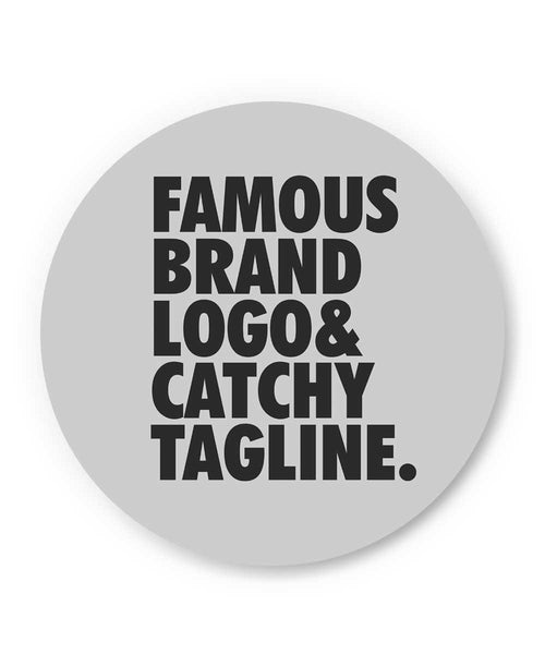 Famous Brand Logo Grey Fridge Magnet Online India