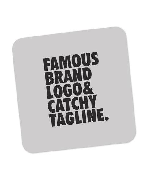 Famous Brand Logo Grey Coaster Online India