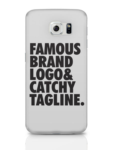 Samsung Galaxy S6 Covers & Cases | Famous Brand Logo Grey Samsung Galaxy S6 Covers & Cases Online India