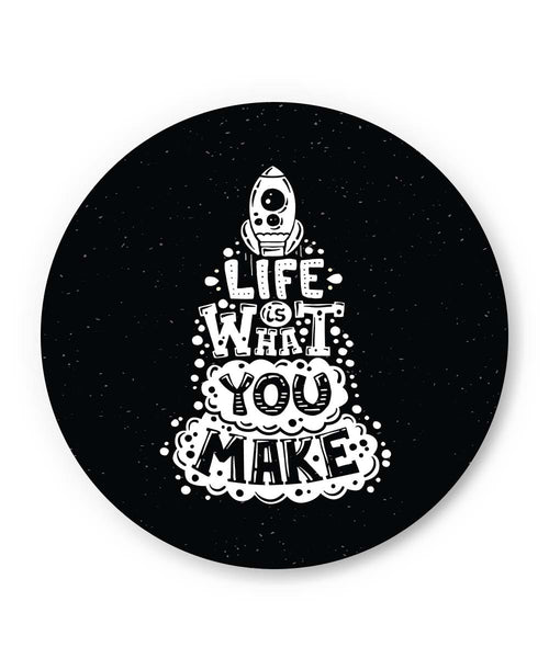 PosterGuy | Life is What You Make Fridge Magnet Online India by Mayank Dhawan