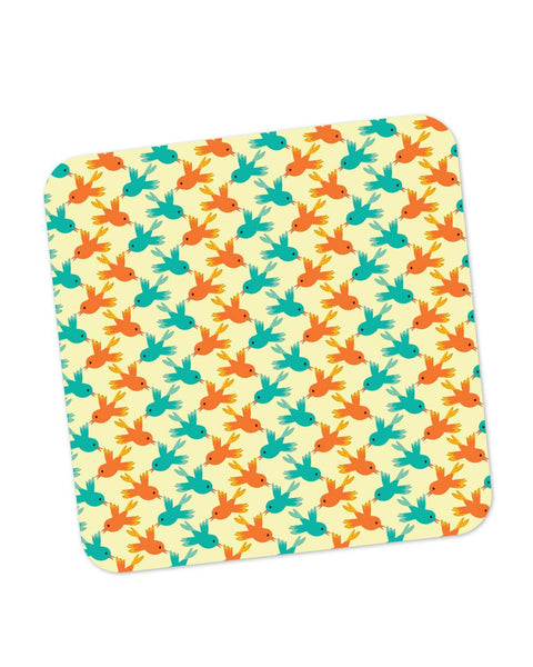 Buy Coasters Online | Vintage Birds Pattern Coaster Online India | PosterGuy.in