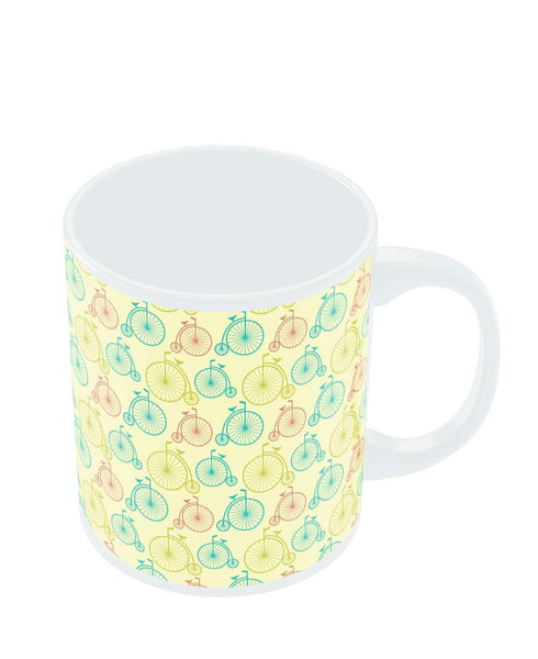 Coffee Mugs Online | Vintage Circus Cycle Pattern Mug Online India