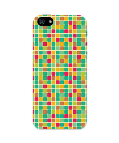 iPhone 5 / 5S Cases & Covers | Vintage Cubes Pattern iPhone 5 / 5S Case Online India
