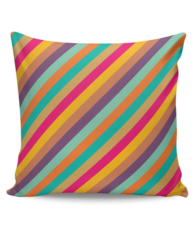 PosterGuy | Vintage Diagonal Stripes Pattern Cushion Cover Online India