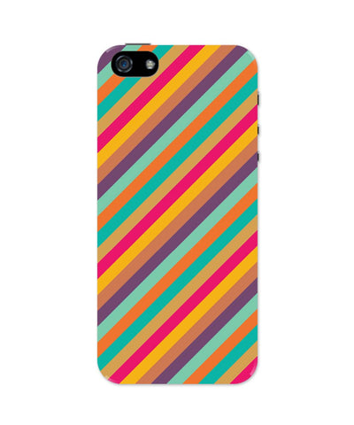 iPhone 5 / 5S Cases & Covers | Vintage Diagonal Stripes Pattern iPhone 5 / 5S Case Online India