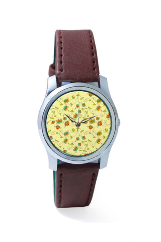 Women Wrist Watches India | Vintage Floral Pattern Wrist Watch Online India