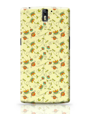 OnePlus One Covers | Vintage Floral Pattern OnePlus One Covers Online India