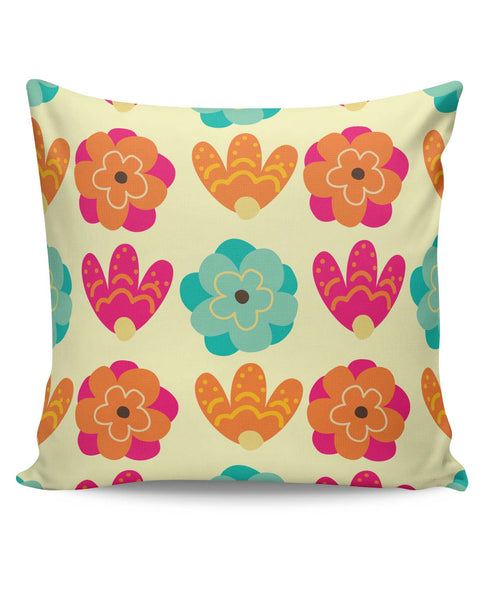 PosterGuy | Vintage Flowers Pattern Cushion Cover Online India