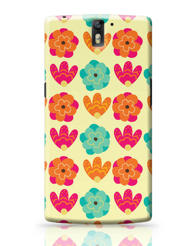 OnePlus One Covers | Vintage Flowers Pattern OnePlus One Covers Online India