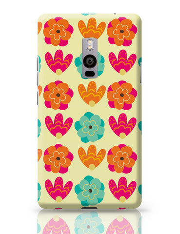 OnePlus Two Covers | Vintage Flowers Pattern OnePlus Two Cover Online India