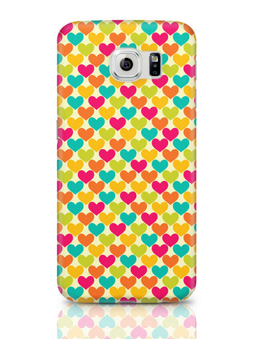 Samsung Galaxy S6 Covers & Cases | Vintage Hearts Pattern Samsung Galaxy S6 Covers & Cases Online India