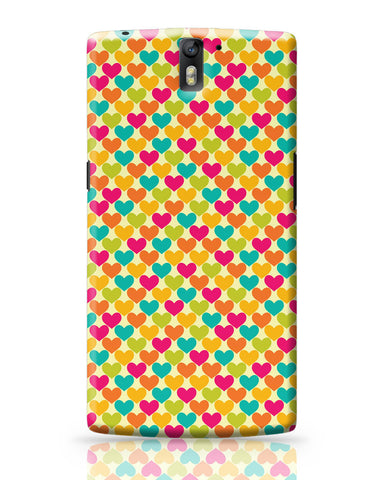 OnePlus One Covers | Vintage Hearts Pattern OnePlus One Covers Online India