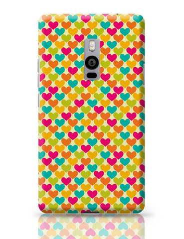 OnePlus Two Covers | Vintage Hearts Pattern OnePlus Two Cover Online India