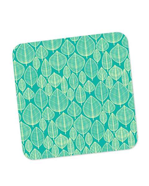 Buy Coasters Online | Vintage Leaf Pattern Coaster Online India | PosterGuy.in