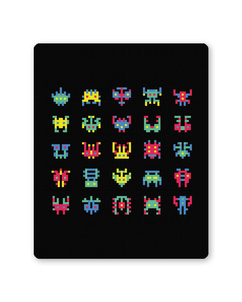 Buy Mousepads Online India | 8 Bit Creatures Quirky Mouse Pad Online India