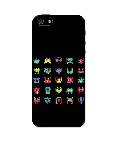 iPhone 5 / 5S Cases & Covers | 8 Bit Creatures Quirky iPhone 5 / 5S Case Online India
