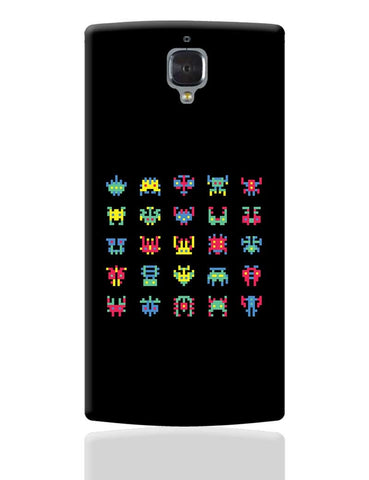 8 Bit Creatures Quirky  OnePlus 3 Cover Online India