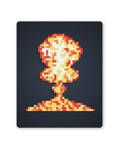 Buy Mousepads Online India | Boom Pixel Art Graphic Illustration Mouse Pad Online India