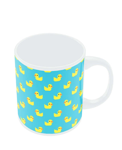 Coffee Mugs Online | Cute Ducks Pixel Art Pattern Mug Online India
